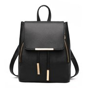 1c2f3cfa98a7 Women s Backpack PU Leather Simple Style Casual Teenagers School Outdoor Travel  Bags (Black)