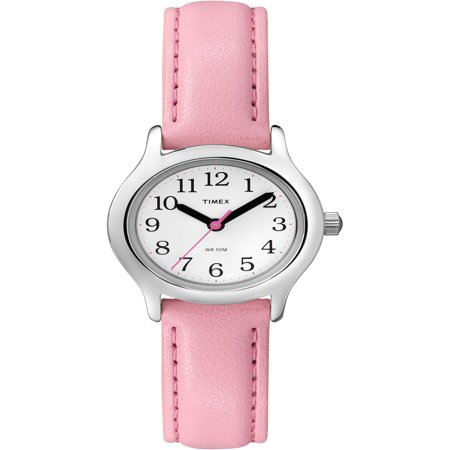 Kid's My First Timex Easy Reader Pink Watch, Synthetic Leather Strap