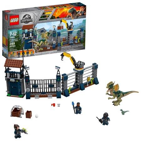 LEGO Jurassic World Dilophosaurus Outpost Attack (Lego Dino Attack Iron Predator Vs T Rex)