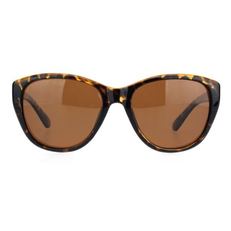 - Polarized Women Minimal Simple Plastic Frame Mod Butterfly Sunglasses Tortoise Brown