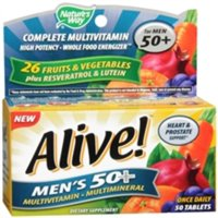 Alive! Nature's Way Once Daily Men's 50+ High Potency Multivitamin 50 ea (Pack of 6)
