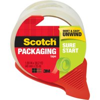 Scotch Sure Start Shipping & Packaging Tape Dispenser, 1.88 in. x 38.2 yd.