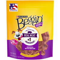 Purina Beggin' Strips Dog Training Treats; Original With Bacon - 25 oz. Pouch