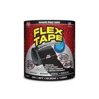 Flex Tape Rubberized Waterproof Tape, 4 inches x 5 feet, Black