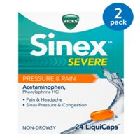 Sinex Severe Sinus Pressure & Pain Non-Drowsy LiquiCaps, by Vicks 24ct