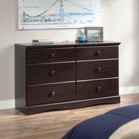 Sauder Storybook 6-Drawer Dresser, Jamocha Wood