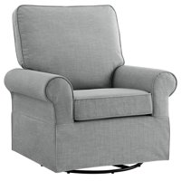 Angel Line Natalie Upholstered Swivel Glider, Gray