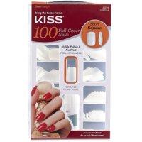 KISS 100 Full Cover Nails, Short Square