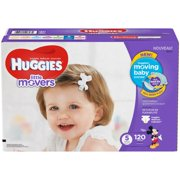HUGGIES Little Movers Diapers, Size 5, 120 Diapers