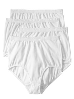 Best Fitting Panty Ladies Cotton Stretch Brief Panty, 4 pack