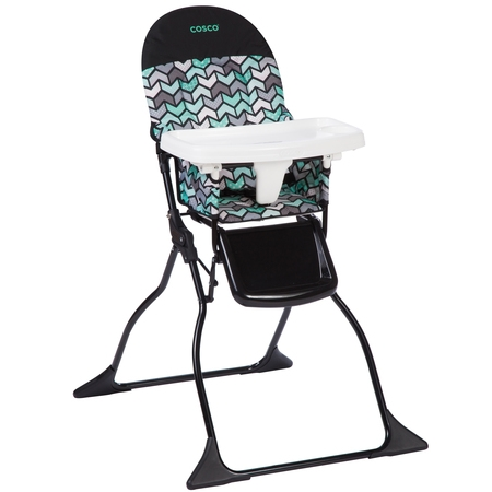 Cosco Simple Fold Full Size High Chair with Adjustable Tray, (Best Cosco Baby High Chair)
