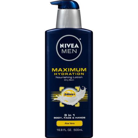 NIVEA Men Maximum Hydration 3 in 1 Nourishing Lotion 16.9 fl.