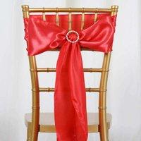 "Efavormart 5 PCS SATIN Chair Sashes Tie Bows for Wedding Events Banquet Decor Chair Bow Sash Party Decoration Supplies  6 x106"""