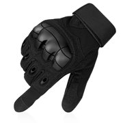 Full Finger Tactical Gloves w  Hard Knuckles -Black(L) Touchscreen  Compatible for 31edb8f54f3