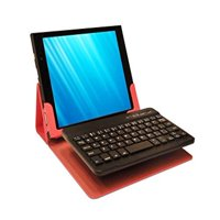 """Pink iPad Mini Case and Bluetooth 3.0 Keyboard, Compatible with iPad Mini, LePan Mini and other 8"""" Tablets"""