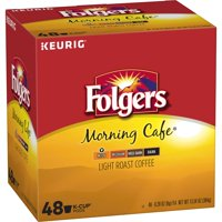 Folgers Morning Cafe, Light Roast Coffee, K-Cup Pods, 48-Count