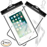 Kasonic Waterproof case, Universal Waterproof Bag Pouch, Clear Sensitive Touch Screen, for iPhone
