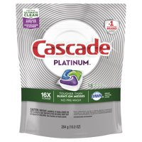 Cascade Platinum Dishwasher Detergent ActionPacs, Fresh, 18 Count