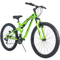 "Huffy 27.5"" Carnage Mens Mountain Bike, Mid-Fat Plus Tires, Green"