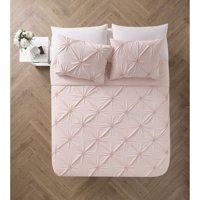 VCNY Home Floral Burst Pintuck 2/3-Piece Reversible Technique Bedding Quilt Set
