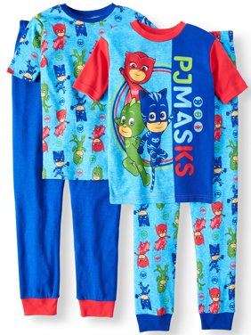 Boys' PJ Masks 4 Piece Pajama Sleep Set (Little Boy & Big Boy)