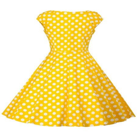 50s Themed Clothing (Women Vintage Dress 50S 60S Sleeveless Polka Dots Swing Pinup Retro Summer Casual Evening Cocktail Party Ball)