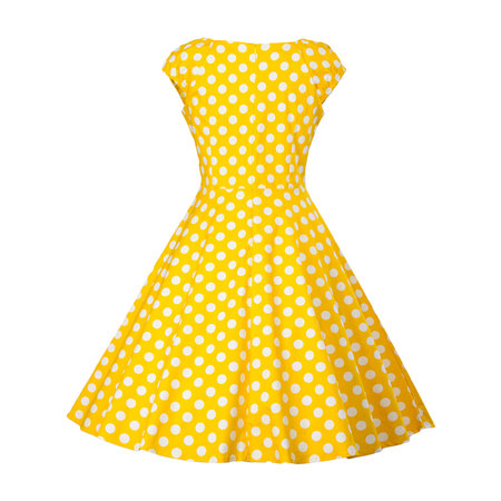 Women Vintage Dress 50S 60S Sleeveless Polka Dots Swing Pinup Retro Summer Casual Evening Cocktail Party Ball - Hairstyles For 50s Ladies
