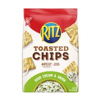 (2 Pack) Ritz Toasted Chips, Sour Cream & Onion Flavored, 8.1 oz