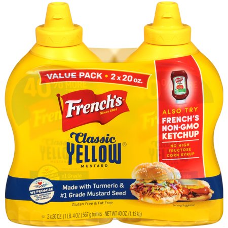 (4 Pack) 20 Oz French's Yellow (Bag Mustard)