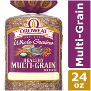 Oroweat Whole Grains Healthy Multi-Grain Bread, Baked with Simple Ingredients & Whole Grains & Seeds, 24 oz
