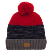e483eb706d8 Frostline Baby Toddler Boy Marled Cuff Pom Pom Hat with 3M Thinsulate Lining