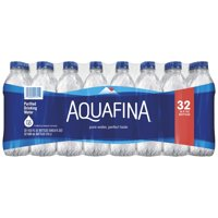 Aquafina Purified Water, 16.9 fl oz Bottles, 32 Count