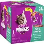 Whiskas Chef's Favorites Choice Cuts Variety Pack Wet Cat Food, 3 Oz, 24 Ct