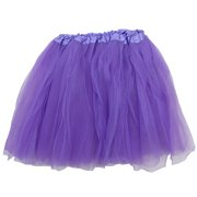 f742872a4 Black Adult Size 3-Layer Tulle Tutu Skirt - Princess Halloween Costume,  Ballet Dress