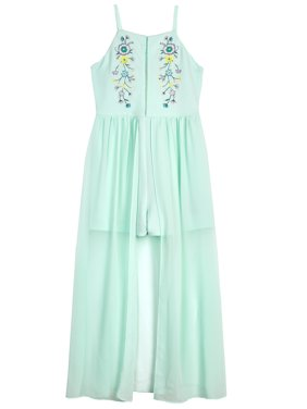 Embroidered Floral Maxi Dress (Big Girls)