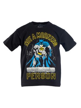 "DC Comics Batman ""Not A Morning Person"" Short Sleeve Graphic Tee (Little Boys & Big Boys)"