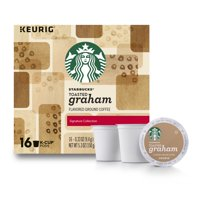 Starbucks Toasted Graham Flavored Blonde Roast Single Serve Coffee for Keurig Brewers, of 16 (16 Total K-Cup Pods)