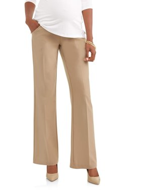 Maternity Full-Panel Wide Leg Career Pants -- Available in Plus Sizes