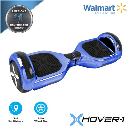 Hover-1 Blue Matrix UL Certified Electric Hoverboard w/ 6.5in Wheels, LED Sensor Lights, LED Wheel Well Lights, Bluetooth Speaker; Ideal for Boys and Girls 8+ and Less Than 180 lbs