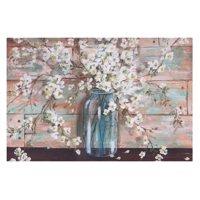 Patton Wall Decor Blooms In Mason Jar Floral Canvas Art