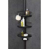 HomeZone 3-Tier Adjustable Pc Corner Shelf Extesion Pole Caddy, Oil-Rubbed Bronze