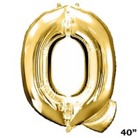 """Efavormart Gold 40"""" tall Alphabet Letters/ Number Foil Balloons Birthday Party Decorations Graduation New Year Eve Party Supplies"""