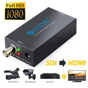 ESYNIC SDI to HDMI Converter Mini HD-SDI SD-SDI 3G-SDI to HDMI Video Adapter Converter Box 1080P BNC Port SDI to HDMI Video Audio Converter for SDI Camera HDTV Projector