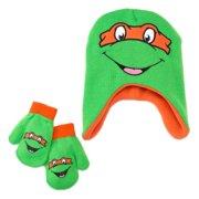 3807def6b65 Nickelodeon Mutant Ninja Turtles Toddler Boys Beanie Trapper Hat   Mittens  Set