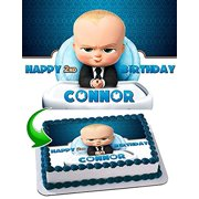 Boss Baby Cake Edible Image Topper Personalized Birthday 1 4 Sheet Decoration Party