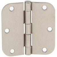 (Pack of 12) Tempo Satin Nickel 3.5  x 3.5  Door Hinges with 5/8  Radius Corn...