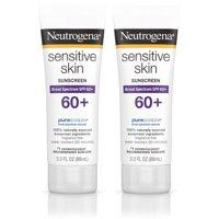 (2 Pack) Neutrogena Sensitive Skin Sunscreen Lotion with SPF 60+, 3 fl. oz