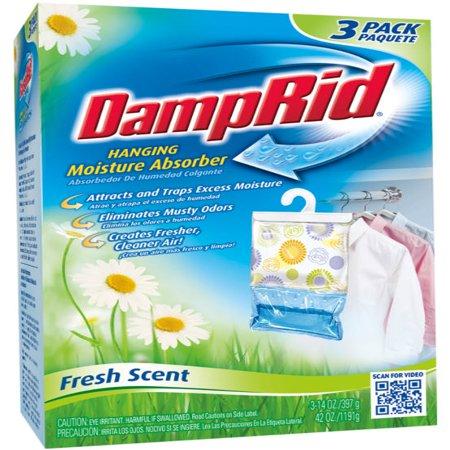 DampRid Hanging Moisture Absorber, Fresh Scent, 3 x 14 (Isabella Scents)