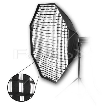 Fotodiox Pro 70in (180cm) Octagon Softbox PLUS Grid (Eggcrate) for Studio Strobe/Flash with Soft Diffuser and Dedicated Speedring for Calumet Travelite