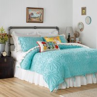 The Pioneer Woman Country Chenille Duvet Set, Full/Queen White